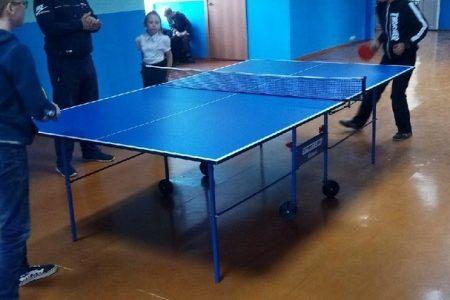 Школьный этап соревнований по настольному теннису